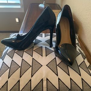 Lauren Conrad Black Patent Leather Stilettos